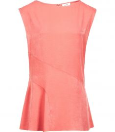 islia LADDER-TRIM TOP BRIGHT PEACH at Reiss