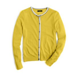 jackie tipped cardigan at J. Crew