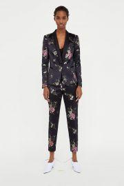 jacquard blazer at Zara