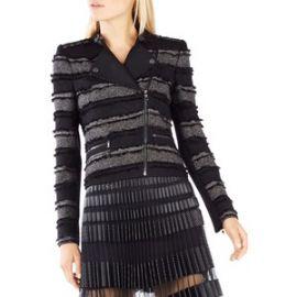 jaison Striped Fringe Jacket at Bcbg