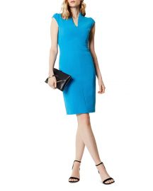 karen millen Puff-Sleeve Sheath Dress at Bloomingdales