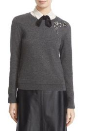 kate spade new york embellished sweater grey at Nordstrom