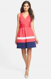 kate spade new york and39sawyerand39 stretch cotton fit andamp flare dress at Nordstrom