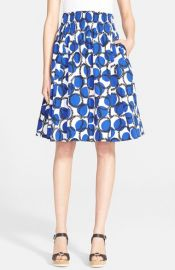 kate spade new york and39stamped dots blaireand39 print flare skirt at Nordstrom