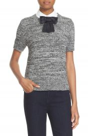 kate spade new york bow collar short sleeve sweater at Nordstrom