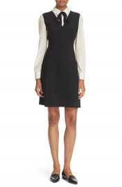 kate spade new york bow tie crepe a-line dress at Nordstrom