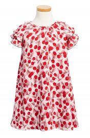 kate spade new york cherry print flutter sleeve dress  Toddler Girls   Little Girls at Nordstrom