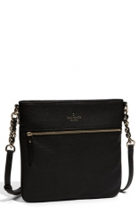 kate spade new york cobble hill - ellen leather crossbody bag in black at Nordstrom