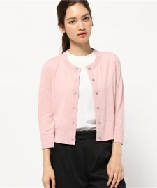 kate spade new york crop jewel button cardigan pink at Nordstrom
