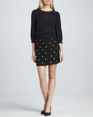 kate spade new york jolette three-quarter sleeve blouse and harper skirt at Neiman Marcus