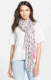 kate spade new york lipstick print scarf at Nordstrom