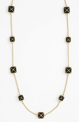 kate spade new york locked in long pyramid necklace at Nordstrom