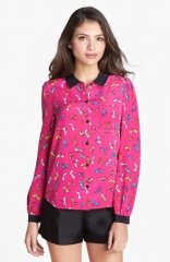 kate spade new york lorelle print silk shirt at Nordstrom