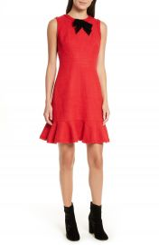 kate spade new york ruffle hem tweed dress at Nordstrom