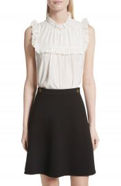 kate spade new york ruffle yoke silk top at Nordstrom