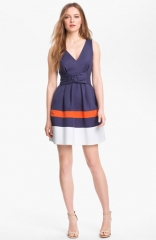 kate spade new york sawyer cotton blend fit andamp flare dress at Nordstrom