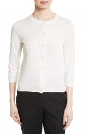 kate spade new york scallop silk blend cardigan at Nordstrom