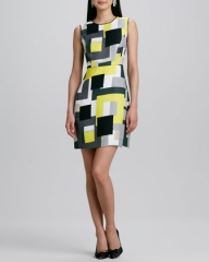 kate spade new york skyla cardigan and della sleeveless dress in geo at Neiman Marcus