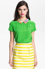 kate spade new york tessa silk top at Nordstrom