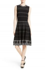kate spade new york texture knit fit   flare dress at Nordstrom