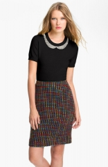 kate spade new york tippy embellished sweater in black at Nordstrom