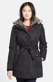 kensie Faux Fur Trim Parka at Nordstrom