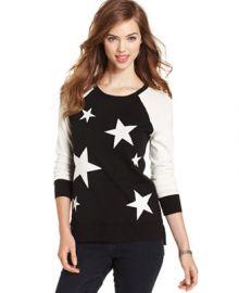 kensie Star Sweater - Sweaters - Women - Macys at Macys