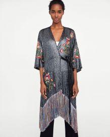 kimono dress at Zara