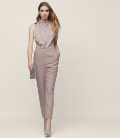 kita lace back jumpsuit at Reiss
