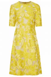 lela rose Floral-jacquard and tulle dress at The Outnet
