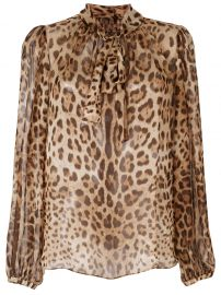 leopard print blouse at Farfetch