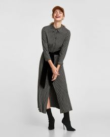 long checked tunic at Zara