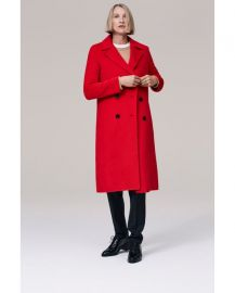 long crossover coat at Zara