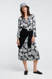 long printed tunic at Zara