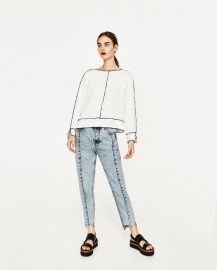 long sleeve top at Zara