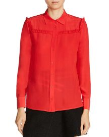 maje Callie Silk Shirt at Bloomingdales