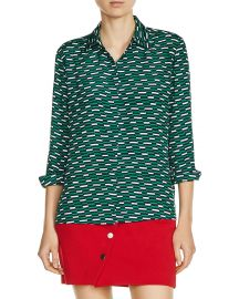 maje Clelia Printed Shirt at Bloomingdales
