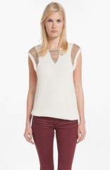 maje Demoisell Chain Detail Sweater at Nordstrom