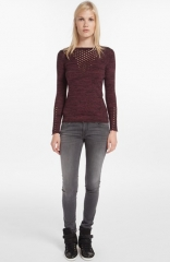 maje Dramaturg Perforated Sweater at Nordstrom