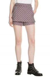 maje Jacquard Skirt Front Shorts at Nordstrom