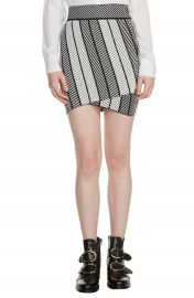 maje Jessy Herringbone Strip Miniskirt at Nordstrom