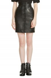 maje Journey Leather Miniskirt at Nordstrom