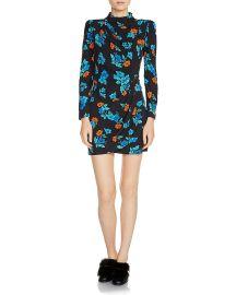 maje Ripita Ruched Floral-Print Mini Dress at Bloomingdales
