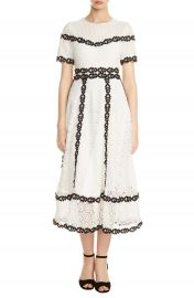 maje Rowan Bicolore Lace Dress at Nordstrom
