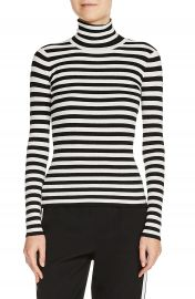 maje Stripe Turtleneck Sweater at Nordstrom