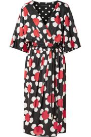 marc jacobs Daisley floral-print stretch-jersey midi dress at Net A Porter