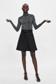 mini skirt with belt at Zara