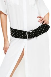 missguided Studded Faux Suede Belt at Nordstrom Rack