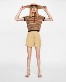 multicolored striped jersey at Zara