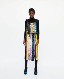 multicoloured sequin top at Zara